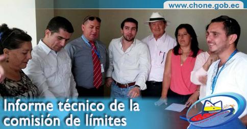 Informe técnico de la comisión de límites