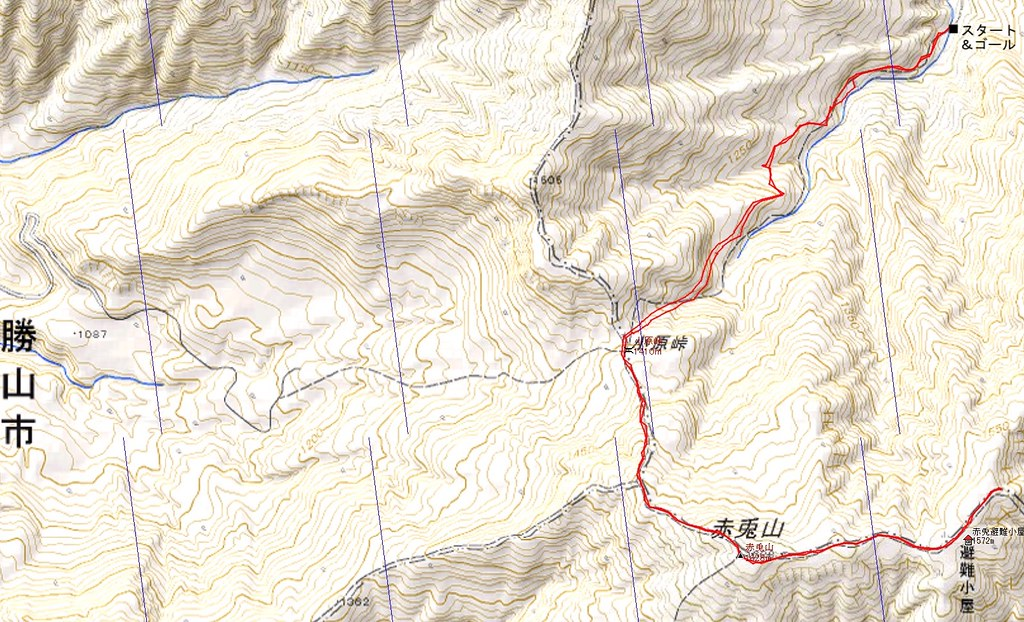 Mt. AKAUSAGIYAMA Map and Data