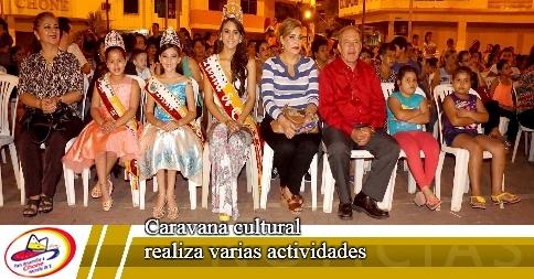 Caravana cultural realiza varias actividades