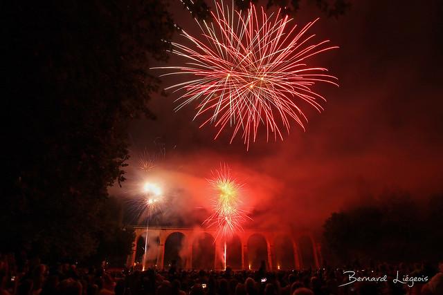 Fireworks on July 14, National Day, Saint-Benoît (86)