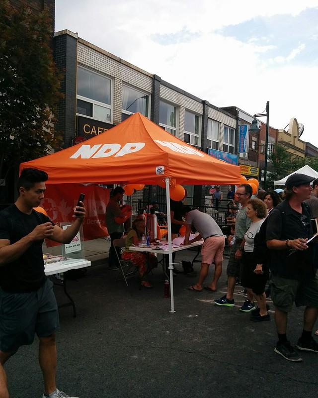 NDP orange #toronto #bloordale #bloorstreetwest #bigonbloor #streetfestival #ndp #latergram