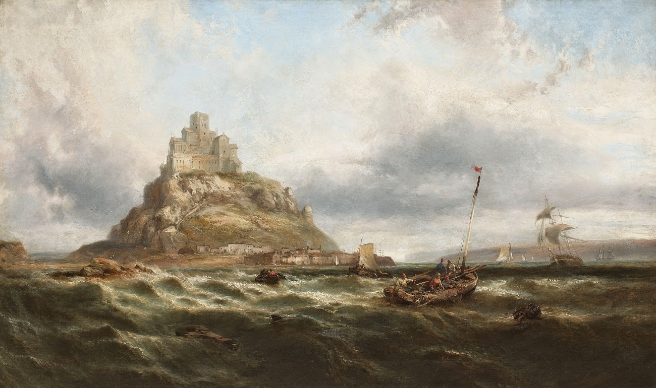 Painting of Mont Saint-Michel by James Webb.