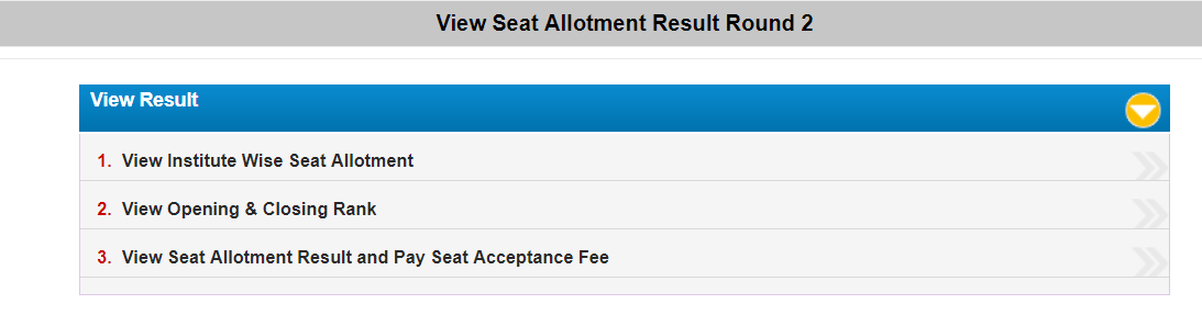 WBJEE Seat Allotment Result Round 2