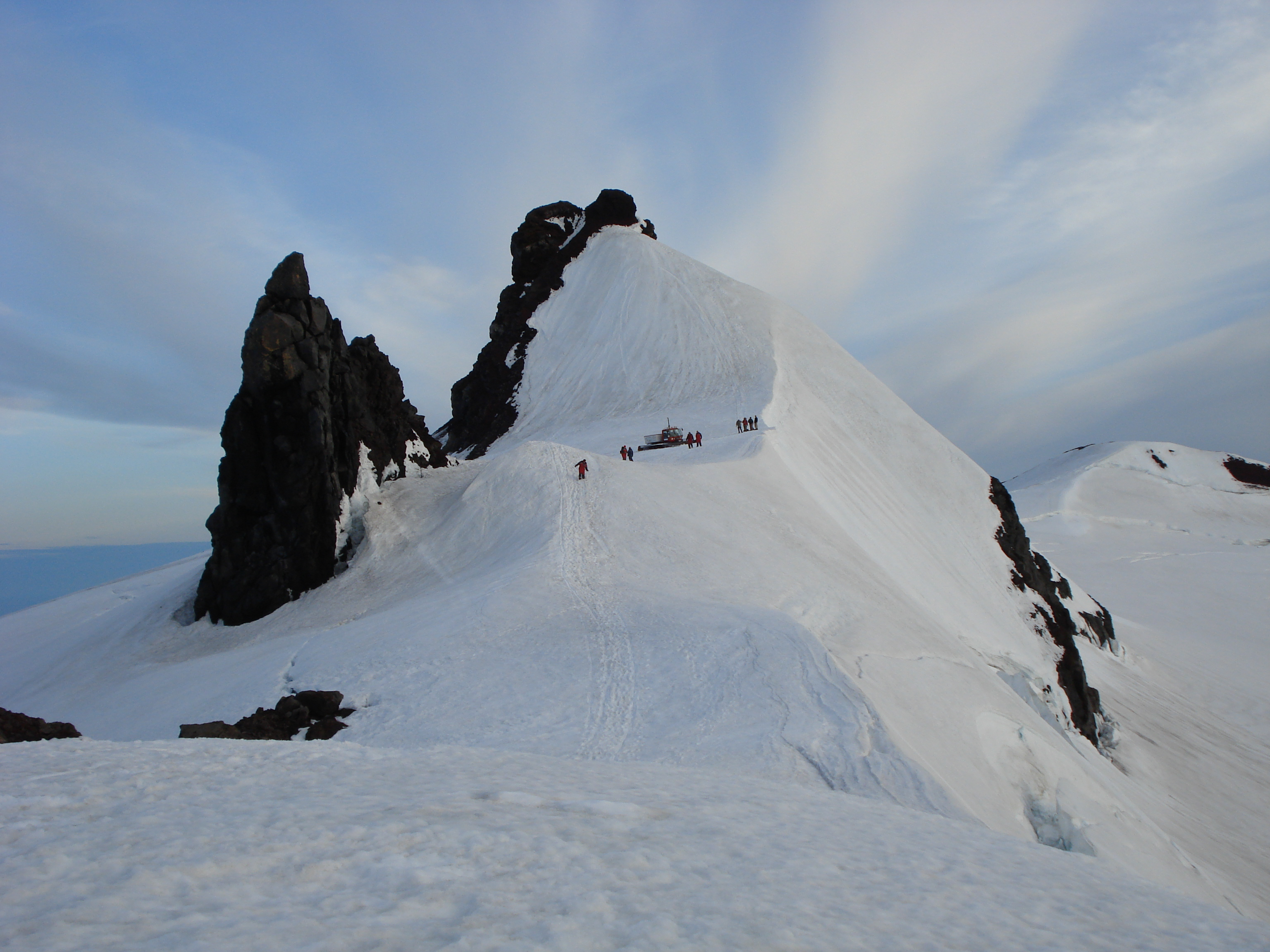 Volcanic plugs at the summit of Snæfellsjökull, Iceland. Photo taken on July 22, 2007.