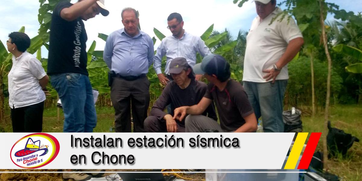Instalan estación sísmica en Chone