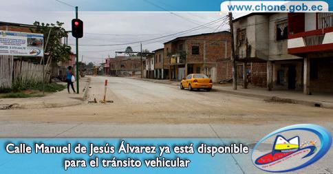 Calle Manuel de Jesús Álvarez ya está disponible para el tránsito vehicular