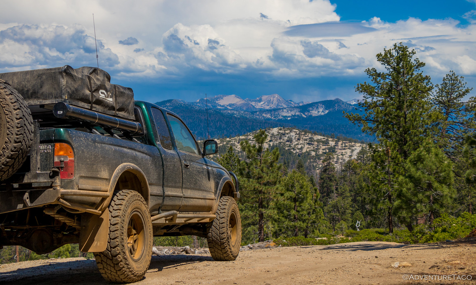 toyota tacoma in the california sierras