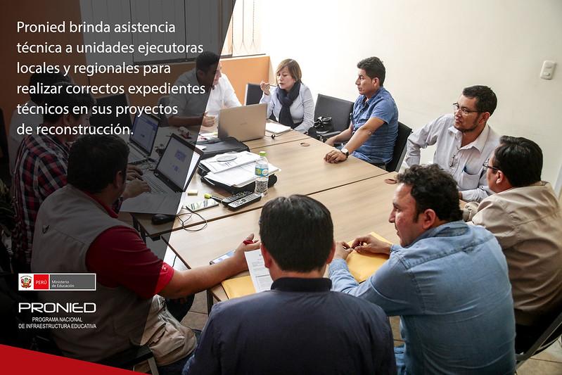 Brindan asistencia técnica a municipalidades para proyectos de reconstrucción