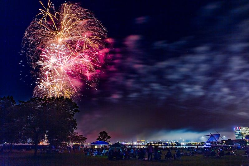 Milwaukee Art Museum and Fireworks