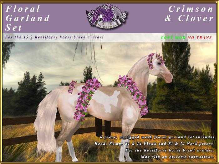 E-RH-FloralGarlands-CrimsonClover - TeleportHub.com Live!