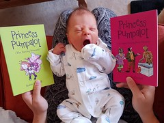 Tue, 07/17/2018 - 10:50 - A brilliant 'Pumpalot Pose' photo from Eric & El Murdoch. This is Daniel Jack McLeod Murdoch with both Princess Pumpalot books. At the tender age of 3 days and 20 hours, this is by far our youngest addition to the Pose album. #Beautiful #Fart2018
