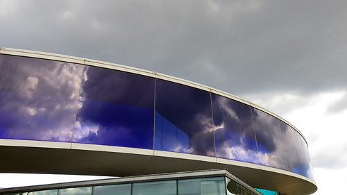 Cloud reflections at the Rainbow Walk at the Aarhus ARoS Museum of Modern Art, Denmark