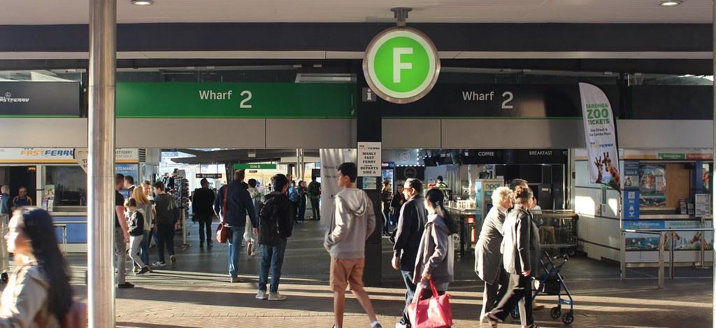 Sydney ferry terminal branding