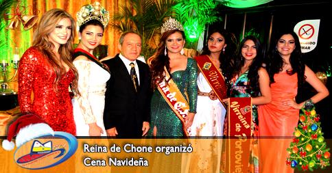 Reina de Chone organizó Cena Navideña