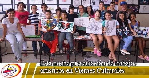 Esta noche presentación de trabajos artísticos en Viernes Culturales