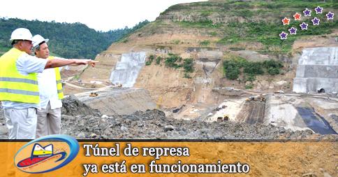 Túnel de represa ya está en funcionamiento