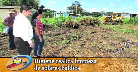 Higiene realiza limpieza de solares baldíos