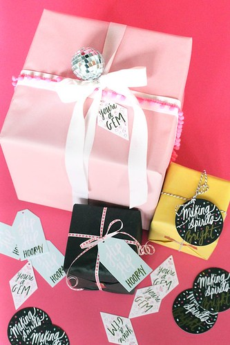 Gifts Wrapping Ideas  : Glitter Guide x Thimblepress