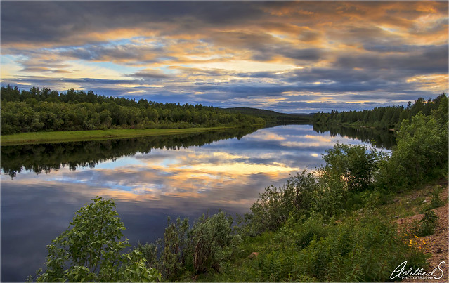 Late Summer evening on the Ivalo river, Finland