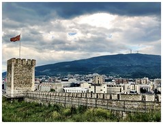 Skopje and Vodno behind Kale fortress