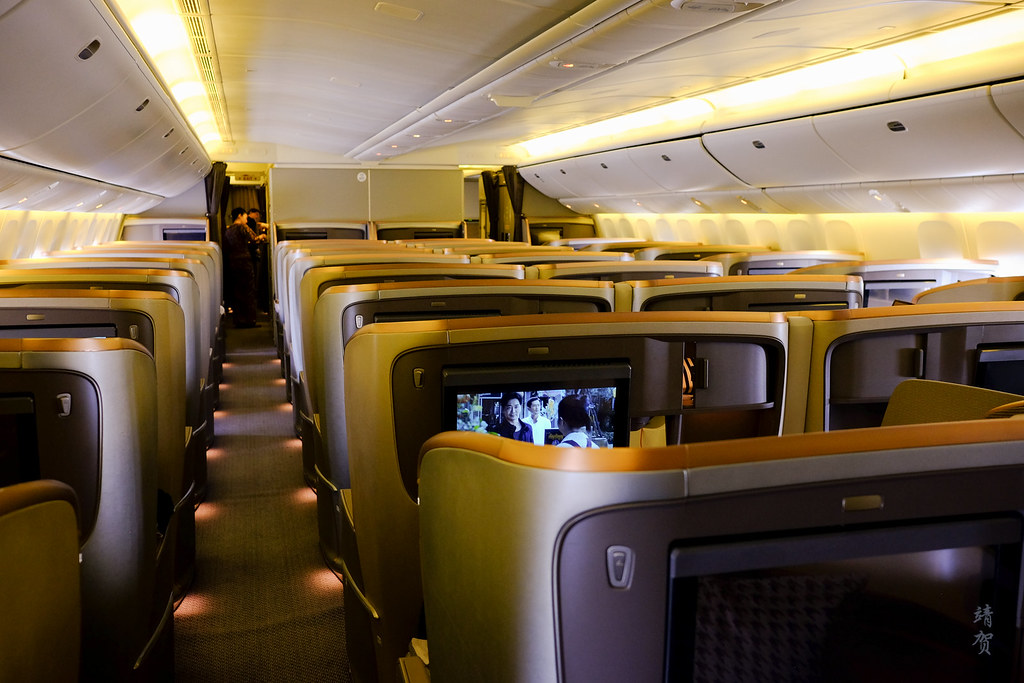 Business Class cabin on the 777-300ER