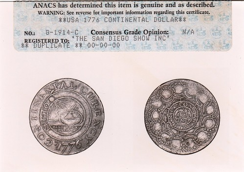 ANACS certificate front