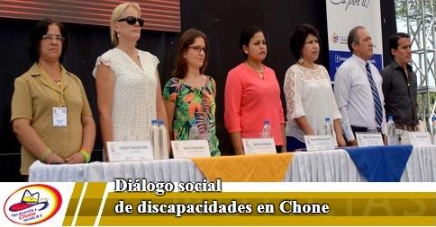 Diálogo social de discapacidades en Chone