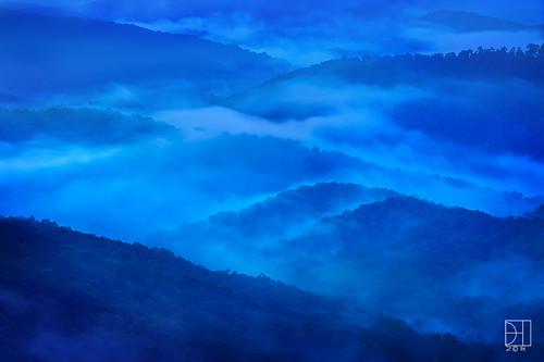 hollow blue ridge park parkway north carolina tennessee asheville americas road sunrise hour fog mist smoky mountains range blueridgemountainrange twilight mills river valley overlook