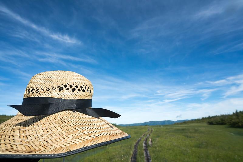 田代山と麦わら帽子