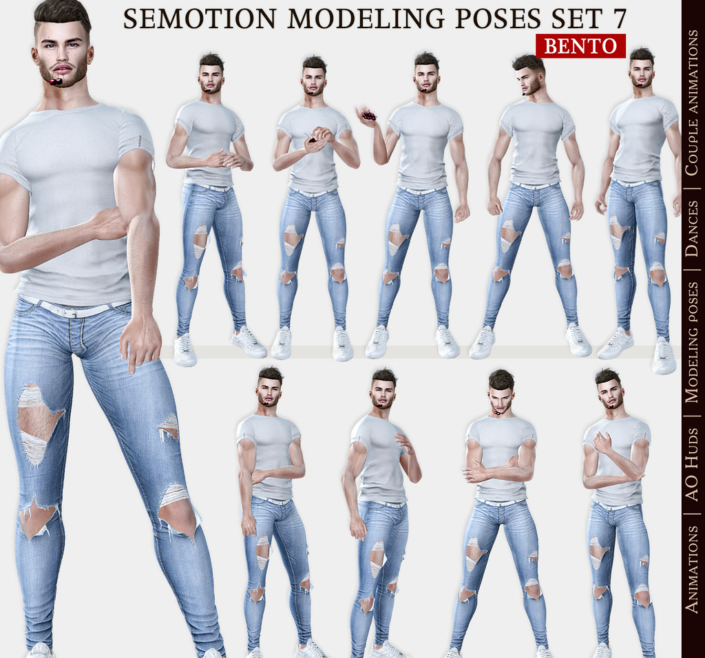 SEmotion Female Bento Modeling poses Set 7 – 10 static poses