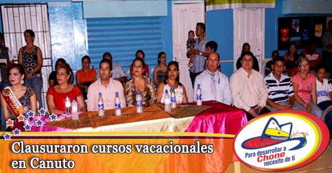 Clausuraron cursos vacacionales en Canuto