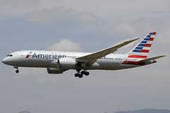 American B787-8 Dreamliner N809AA BCN 07/07/2018