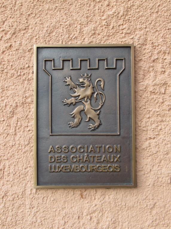 Plaque for Associartion des Chateaux Lexembourgeois