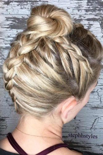 Hair Bun For Short Hair: Updo & Half-Up -These Newest Ideas 2