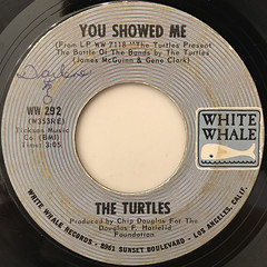 THE TURTLES:YOU SHOWED ME(LABEL SIDE-A)