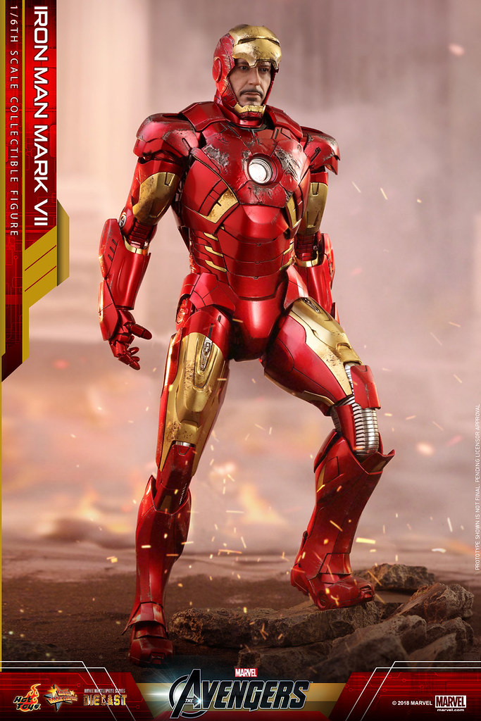 Hot Toys brings the party to you with the Iron Man Mark VII 1/6 Collectible Figure!