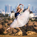 Pretty Ballerina Dancing Ballet Griffth Observatory Los Angeles City Skyline! Nikon D810 70-200mm VR2 F2.8! Fine Art Classical Ballet in Pointe Shoes Slippers Leotard Tutu Photography! High Res LA Portraits of Professional Ballerina Model! Jette Jump! by 45SURF Hero's Odyssey Mythology Landscapes & Godde