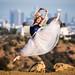 Pretty Ballerina Dancing Ballet Griffth Observatory Los Angeles City Skyline! Nikon D810 70-200mm VR2 F2.8! Fine Art Classical Ballet in Pointe Shoes Slippers Leotard Tutu Photography! High Res LA Portraits of Professional Ballerina Model! Jette Jump! by 45SURF Hero's Odyssey Mythology Landscapes & Godde