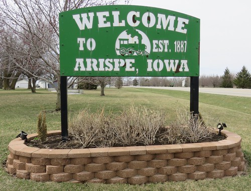 iowa ia citywelcomesigns unioncounty arispe northamerica unitedstates us