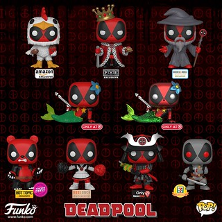 出不完的北爛死侍~~Funko Pop! Exclusives! 系列【死侍】Deadpool 跑遍各地全部收齊吧!!