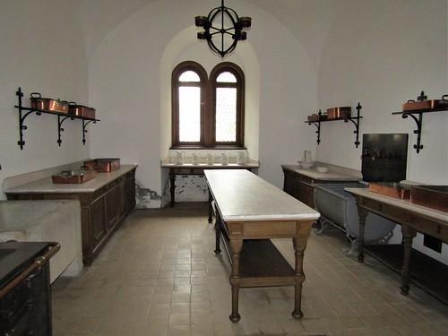 kitchen in Neuschwanstein Castle