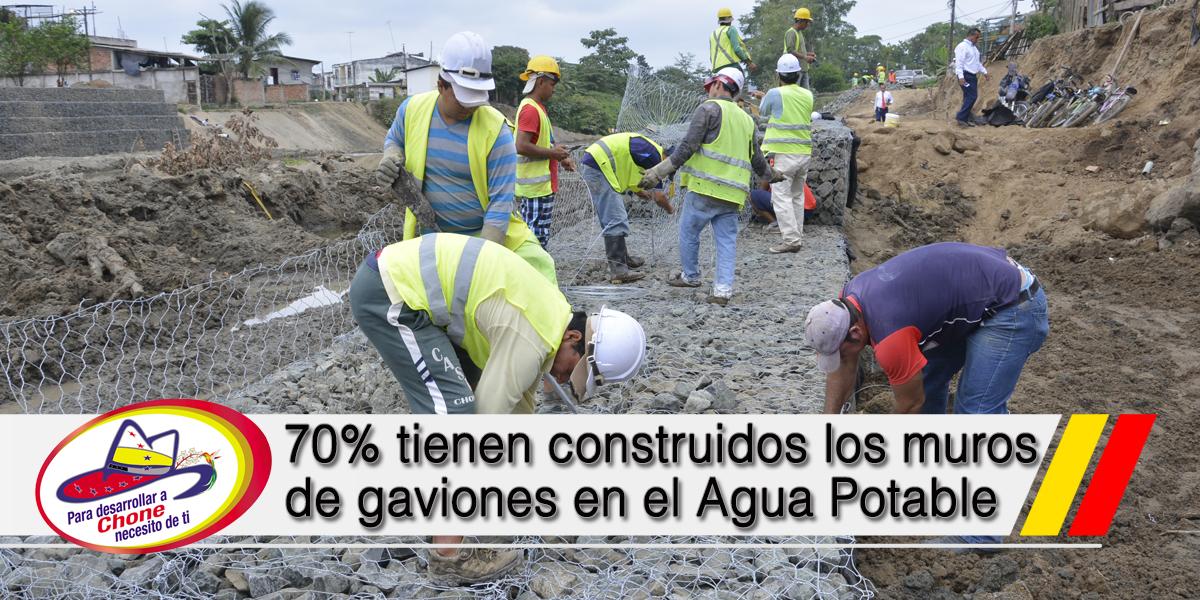 70% tienen construidos los muros de gaviones en el Agua Potable