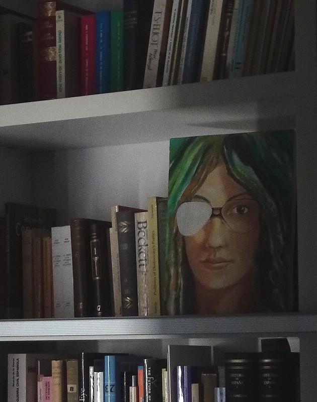 El cuadro de la chica de pelo verde