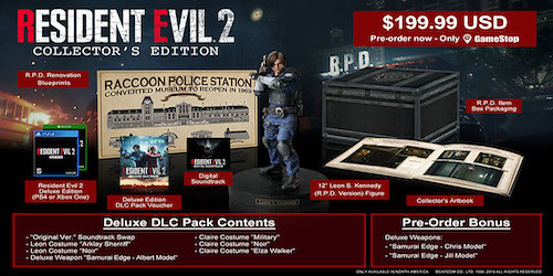 Resident Evil 2 Collector's Edition for North America  announced
