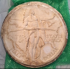 plaster of the Oregon Trail commemorative 50c piece
