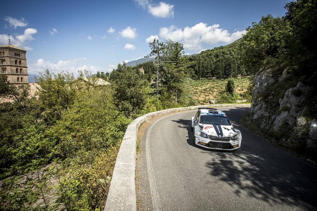 08 Orhan Avcioglu (TUR), Burcin Korkmaz (TUR), Toksport WRT, SKODA FABIA R5, during the 2018 European Rally Championship ERC Rally di Roma Capitale,  from july 20 to 22 , at Fiuggi, Italia - Photo Gregory Lenormand / DPPI