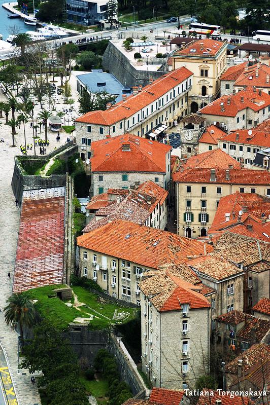 Вид сверху на южную часть города и его стен