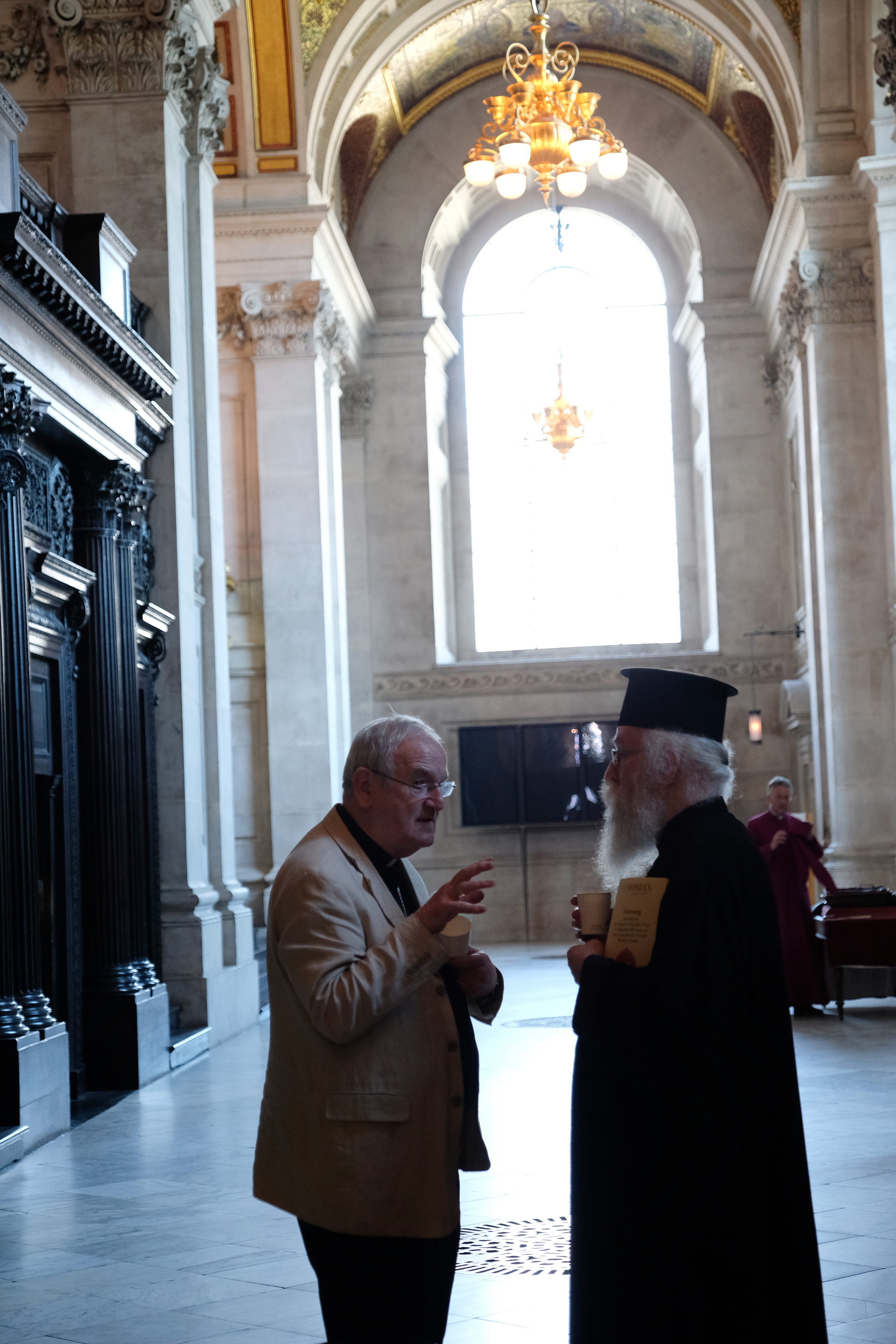 Archbishop George Stack, Archbishop Gregorios Theocharous, Greek Orthodox Archbishop of Thyateira and Great Britain