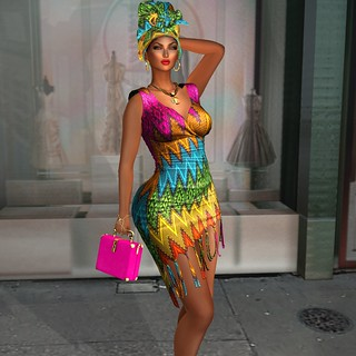 ARTIZANA - Sankolo Collection - Mesh Dress & Headwrap