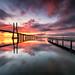 Main bridge sunrise by marcolemos71